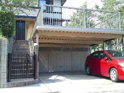 駐車場の拡張とバルコニー 大津市