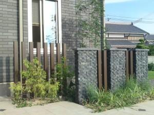 デザイン壁で玄関前をグレードアップ 草津市
