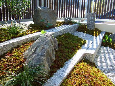枯山水の坪庭 洗練された美しさ 草津市