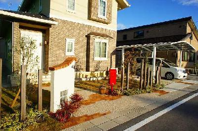 クラシックデザインのオープン外構 近江八幡市