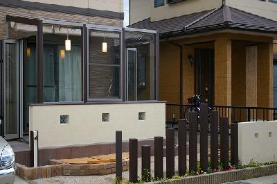 ココマ腰壁タイプを中心に多目的ガーデン 守山市