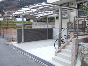 駐車スペースの拡張 ビフォーアフター