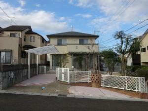 オープンなデザインをクローズに 高低差を活かしたお庭 大津市