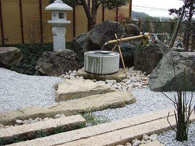 加工石と自然石の融合