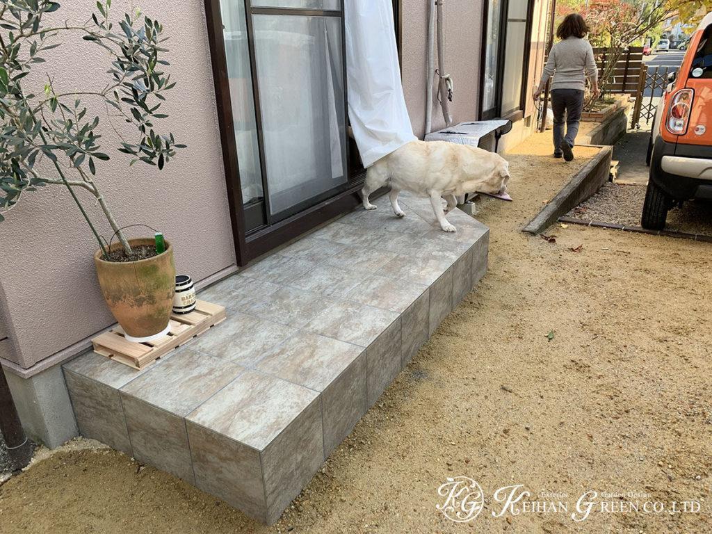 すっきりと見通しのよいお庭へ 大津市