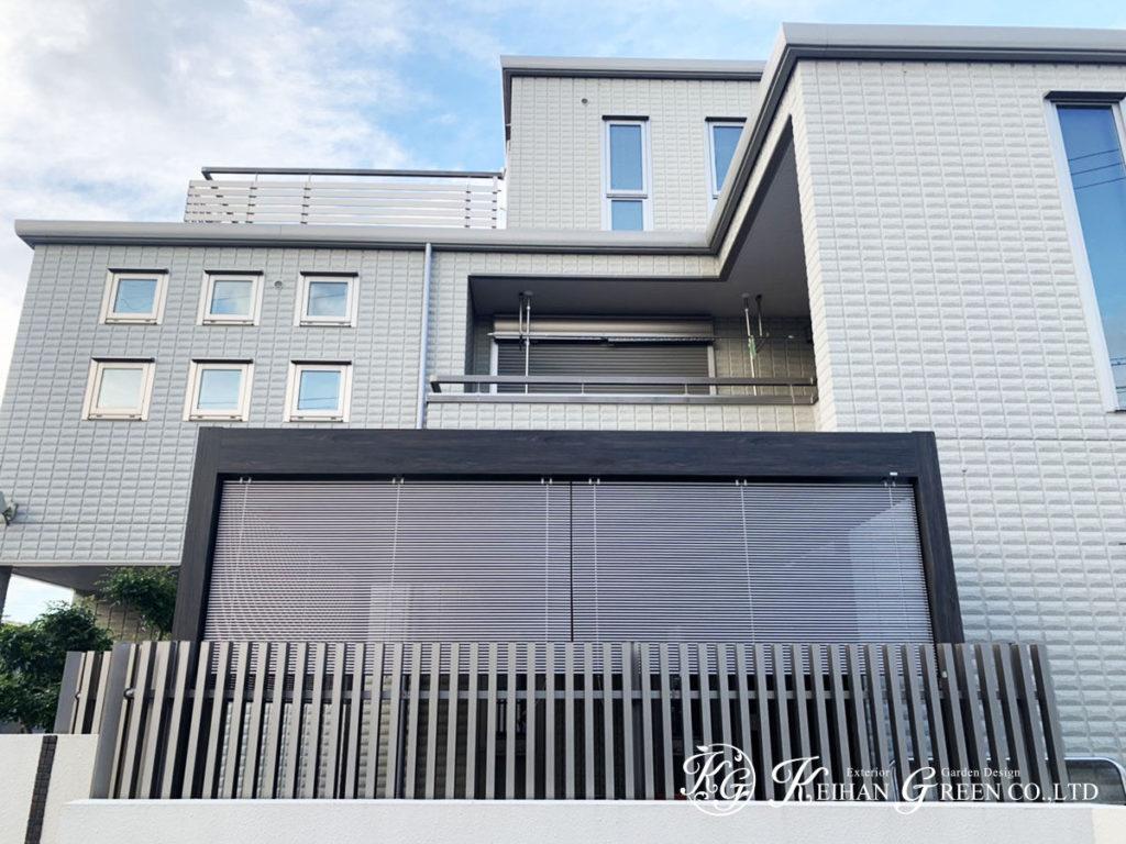 デザイン性の高いルーフでテラスが新しい空間に 東近江市