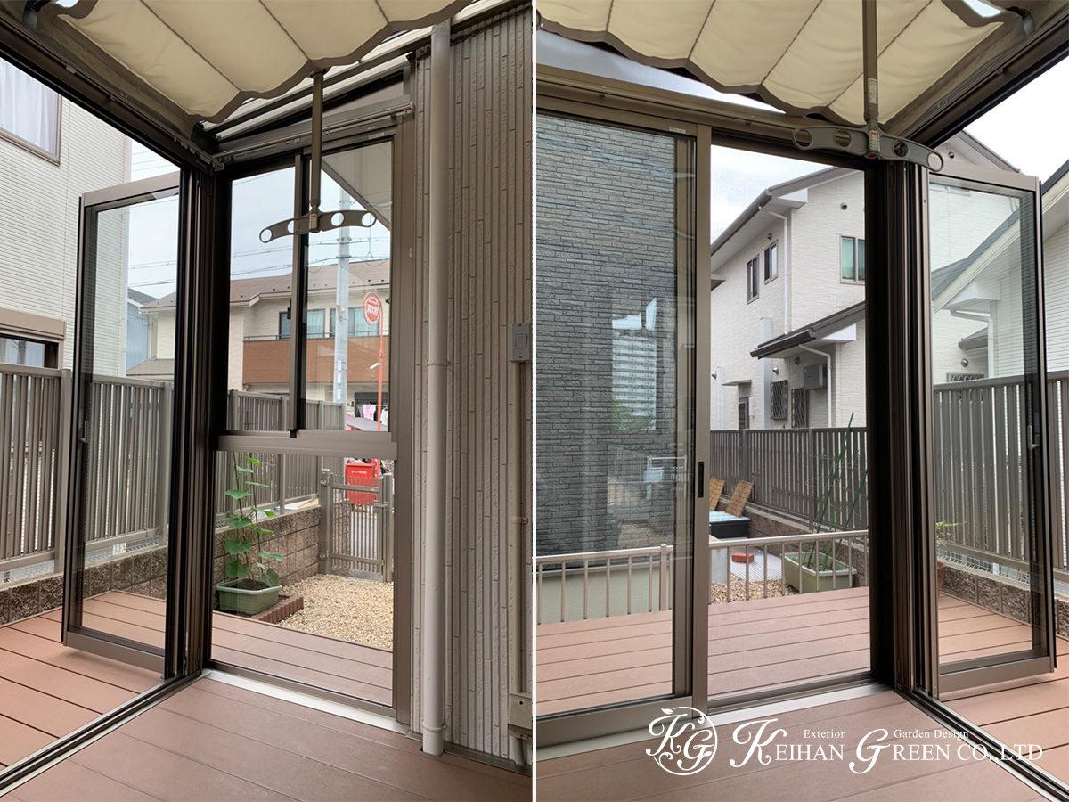 ガーデンルームとウッドデッキで敷地を有効活用 草津市
