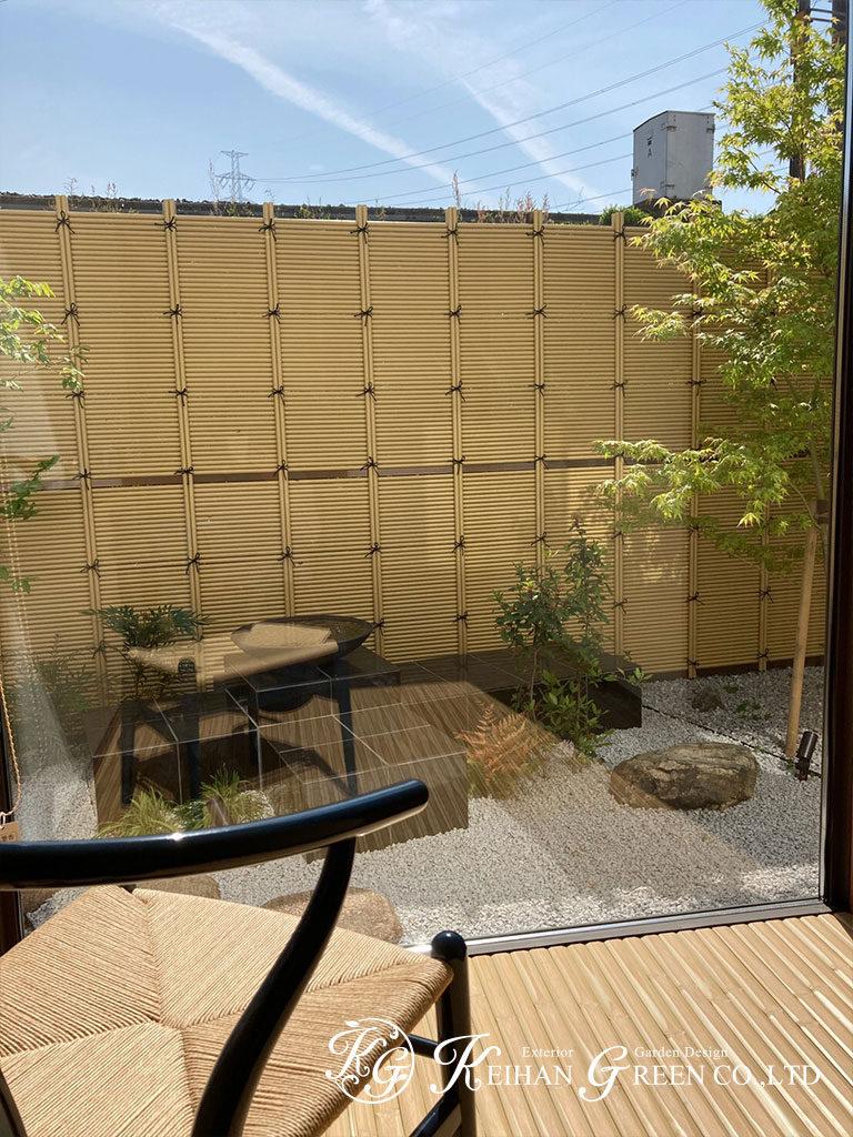 和モダンから洋風まで、違った風景を楽しめるお庭 京田辺市