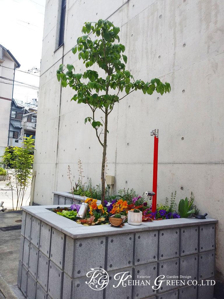 狭小地でも四季折々楽しむことができる外まわり 京都市