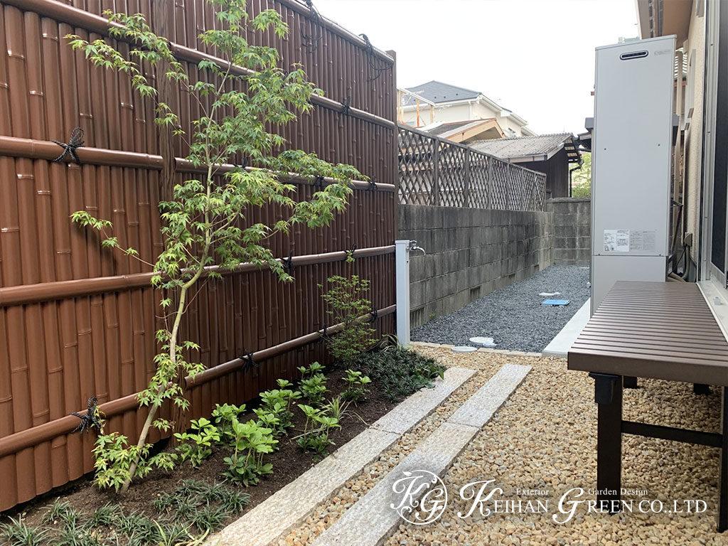 和モダンな大和塀や竹垣で落ち着いた雰囲気の外構 湖南市
