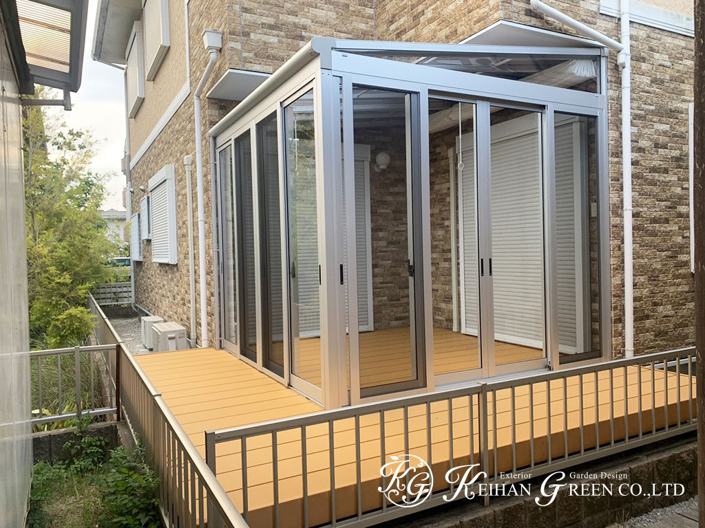 ご家族のアウトドアリビングに、家事スペースに ~ テラス囲いでお庭を有効活用 守山市